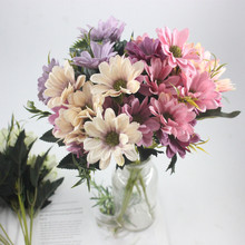 10 head / 1 bunch artificial daisy decorative fake plant sunflower bridal bouquet Christmas home wedding New Year decoration