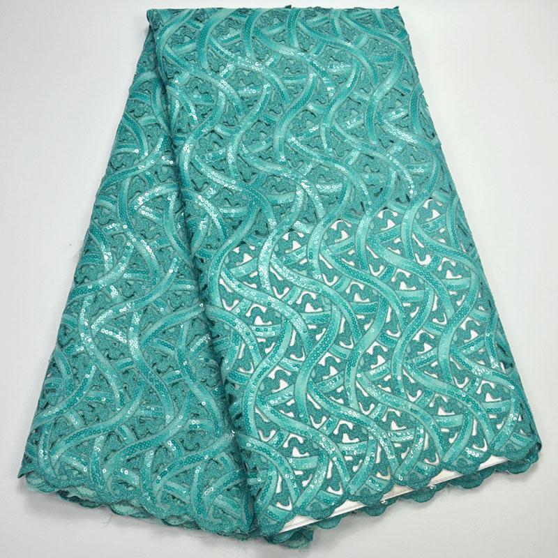 5 yards Handcut lace fabric African organza lace with lots of sequins high quality and exclusive