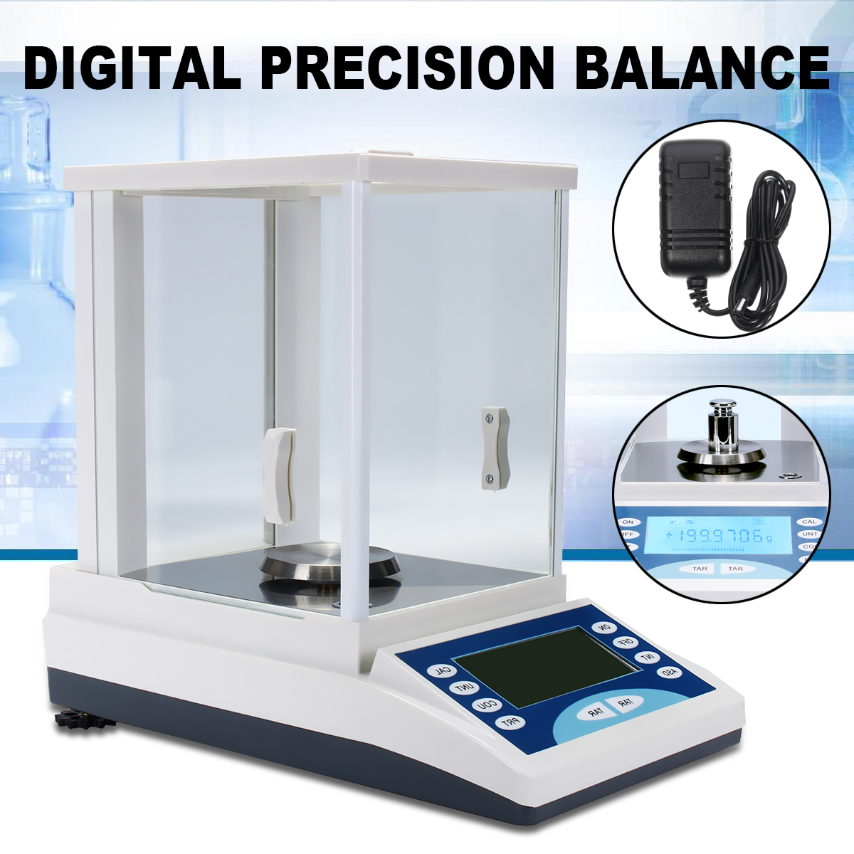 Digital Precision Scale Lab Analytical Balance 200 / 0.0001g 0.1mg 100-240V Top Quality Electronic Balance Aluminum Alloy Base hc b20001 electronic analytical balance digital balance lab balance 2kg range 0 1g resolution