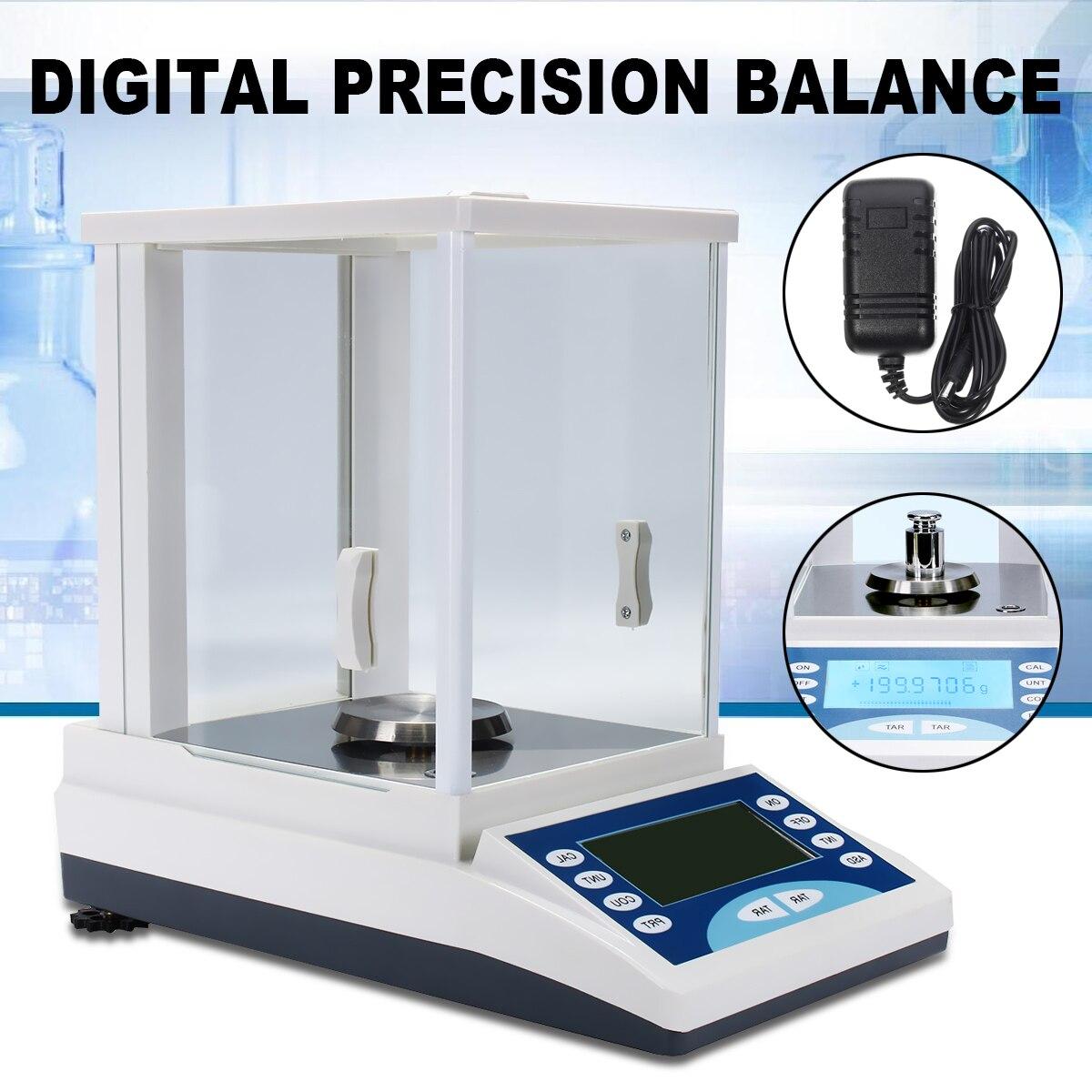 Numérique Balance De Précision Lab Balance Analytique 200/0.0001g 0.1 mg 100-240 v Top Qualité Balance Électronique base en Alliage d'aluminium