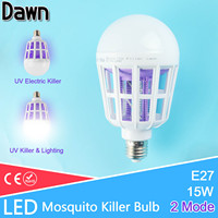 2Mod E27 LED Mosquito Killer Lamp Bulb UV Electric Trap Light Electronic Anti Insect Bug Wasp