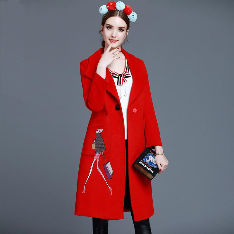Online Buy Wholesale deep red coat from China deep red coat