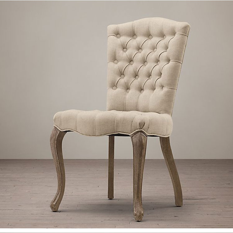 Upholstery Fabric Dining Room Chairs Beige Wood Leg Accent