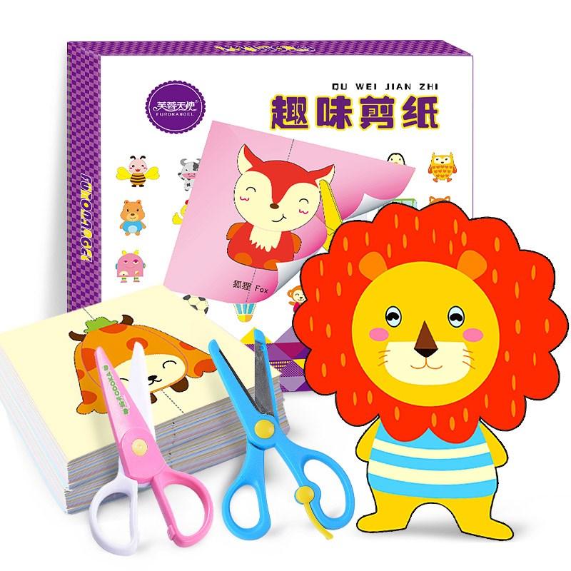 100 pièces enfants à la main papier coupe et pliage jouet enfants bébé dessin animé animaux papier pour bricolage Art artisanat maternelle jouet (lot de 100)