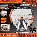 Powerzone Мотоцикла Байк Мотокросс Supermoto Универсальный Фара передняя Для KTM EXC SX SXF XCW EXCF 125 250 300 450 500