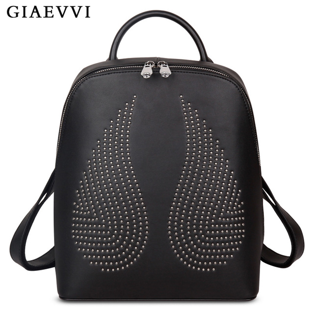 GIAEVVI women leather backpack designer school backpacks for teenage girls  luxury shoulder bags fashion ladies travel cf3aed6ffb6a3