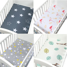 130cm*70cm 100% Cotton crib fitted sheets soft baby bed mattress covers print Newborn toddler bedding set kids mini cot sheet(China)