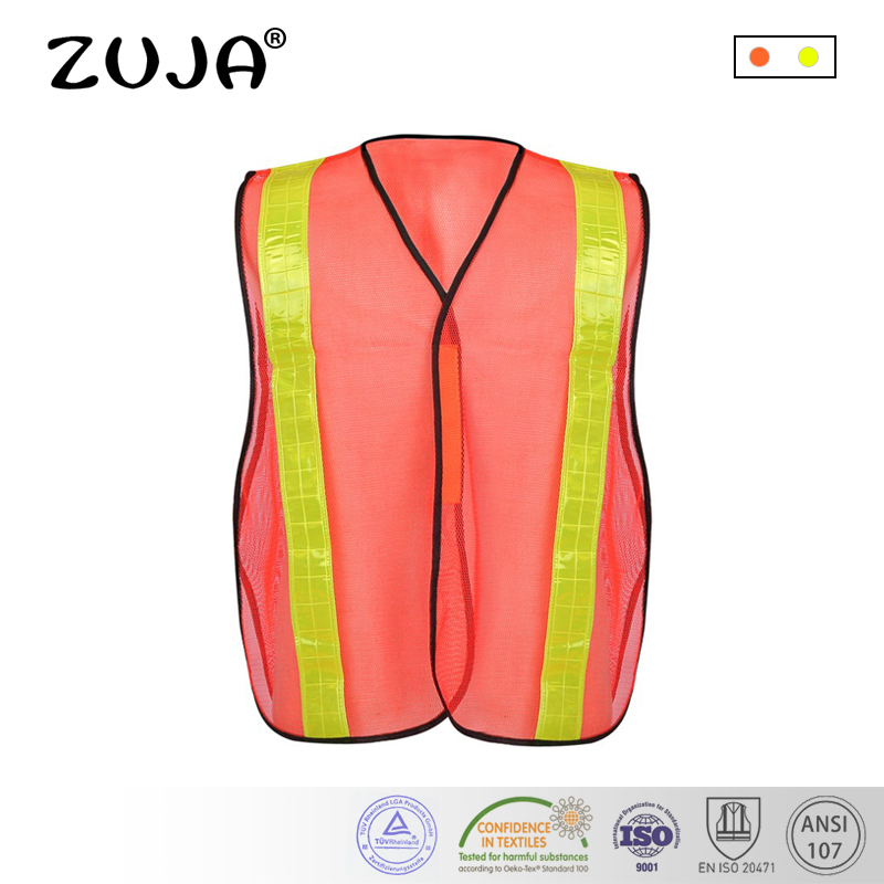 Workplace Safety Supplies Safety Vest Mesh Vest Traffic Fluorescent Breathable Adjustable Pvc Tape
