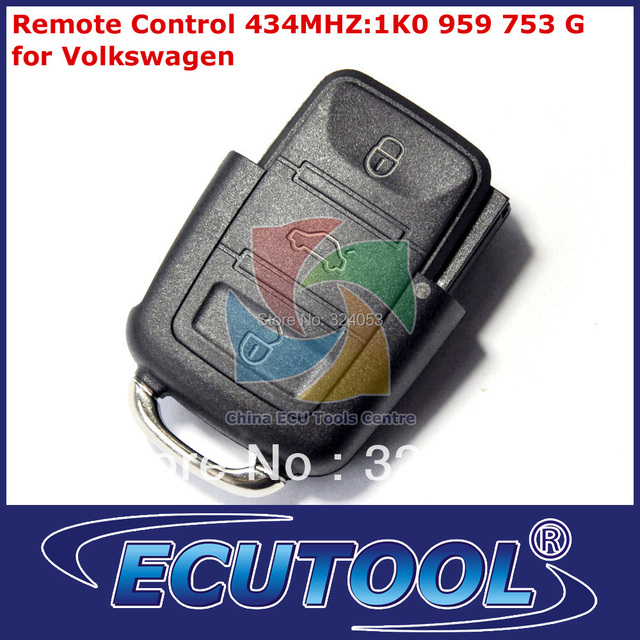 MOQ: 1 pc VW Car Key Remote Control 434MHZ:1K0 959 753 G for Volkswagen with High Quality