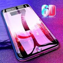 6D HD Премиум Защитная стеклянная пленка для iPhone X XS анти-синий свет протектор экрана телефона закаленное стекло для iPhone 7 8 Plus