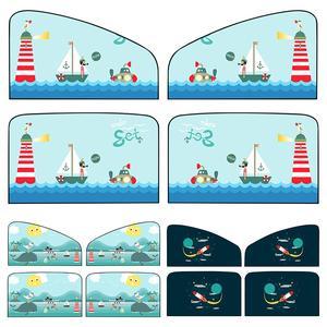 Image 5 - 2 sztuk magnetyczne osłona przeciwsłoneczna do samochodu samochód ochrony przeciwsłonecznej magnes parasol przeciwsłoneczny chowany zasłony tylnego rzędu Cartoon zasłona okienna