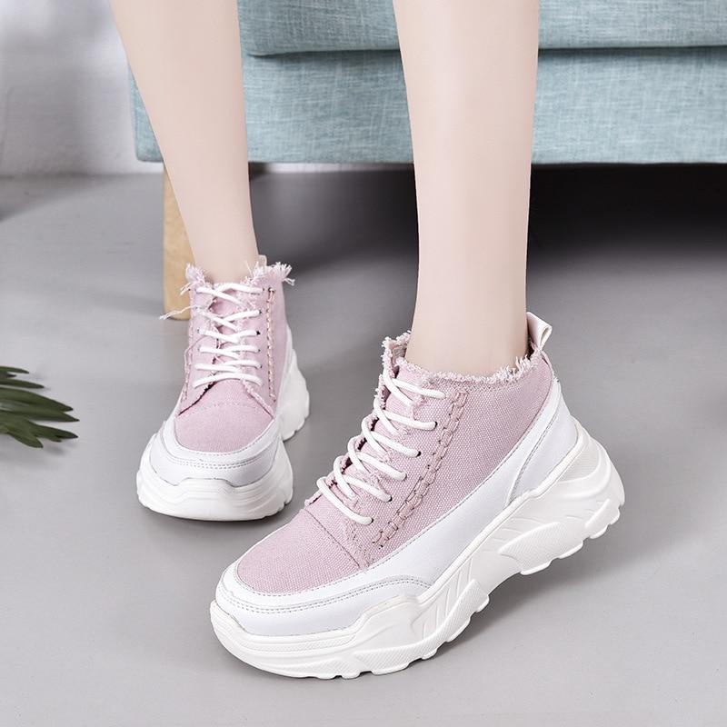 2019 Spring women flats thick  platform sneakers shoes female casual shoes flats2019 Spring women flats thick  platform sneakers shoes female casual shoes flats