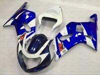 هدية الزوائد ل suzuki gsxr 600 750 1000 2002 كاملة gsxr1000 2002 2000-2003 k1 k2 أزرق أبيض هدية gsxr600 2002