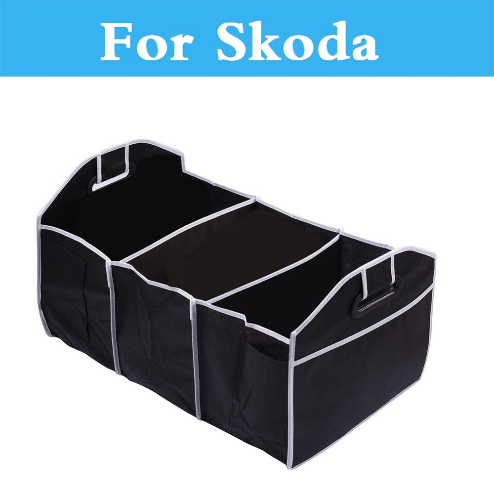 Car Trunk Organizer Toy Food Storage BagStowing Tidying For Skoda Octavia Citigo Fabia Fabia RS Octavia RS Rapid Superb Yeti