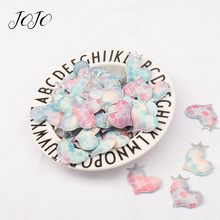 JOJO BOWS Glitter Patches Rainbow Fish Scale Heart With Crowns Accessories For Needlework DIY Hair Bows Wedding Decoration