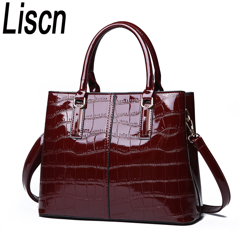 Europe And The United States New Ladies Fashion Wild Crocodile Pattern Handbag High Quality Shoulder Messenger Bag Street Trend