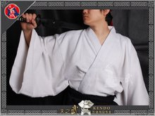 High Quality White Traditional 100% Cotton Samurai Iaido Kendo Gi Martial Arts  Free Shipping