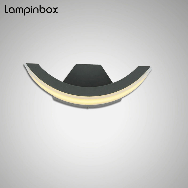 Outdoor Waterproof Ip65 Wall Lamp Modern Aluminum Lamp 8W LED Exterior Light Outdoor Corridor Hallway Balcony Wall Lamp LP-001 cob square led outdoor wall lamp nordic contemporary and contracted wall lamp corridor lamp exterior balcony wall lamp