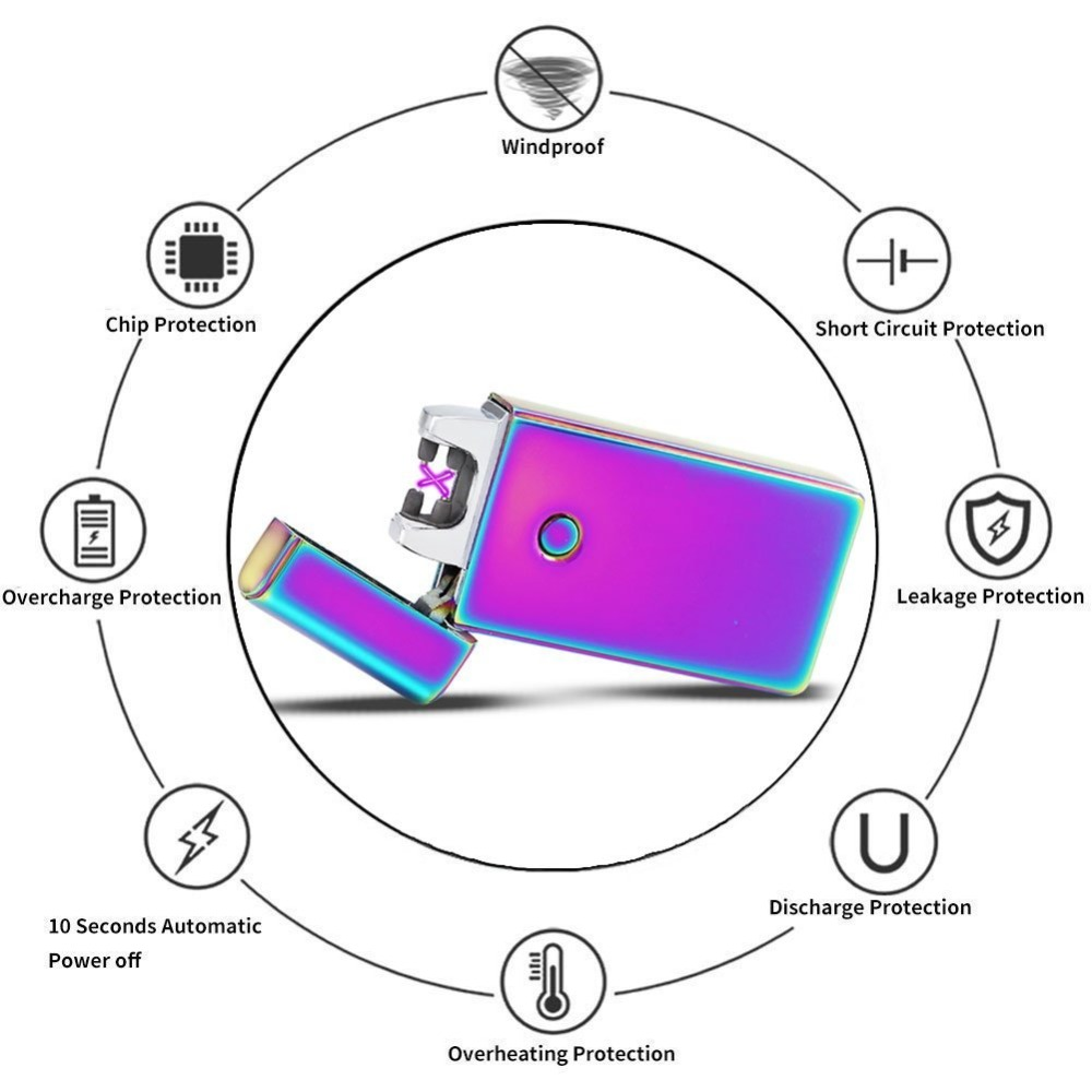 Buy Double Pulse Cross Arc Usb Rechargeable Cigar E Cigarette Circuit Diagram Lighter Windproof Electronic Flameless Electric Plasma Lighters From Reliable