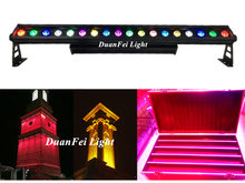 (Flycase) 10 stücke party wand licht led bar pixel 18x15 led exterieur rgbwa barre led wall washer im freien wand lampe(China)