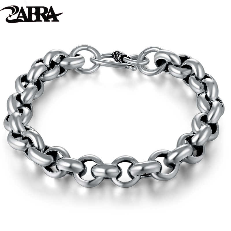 515dba8c4d2c66 925 Sterling Silver Created Male Interlocking Bracelet Bangles Domineering Thai  Vintage Biker Men Fashion Charms Jewelry