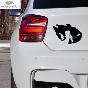 Красивый Хан полагается фильм «Звездные войны» Сокол миллениума к победе автомобиля стикер для окна грузовика Bumpe Kayakr виниловая наклейка