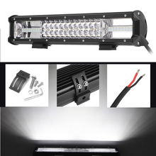 купить ECAHAYAKU 12inch 3-row 162W LED Light Bar Offroad Beam Combo Led Work Light Bar Driving Lamp Truck SUV ATV 4x4 4WD 12v 24v Led в интернет-магазине