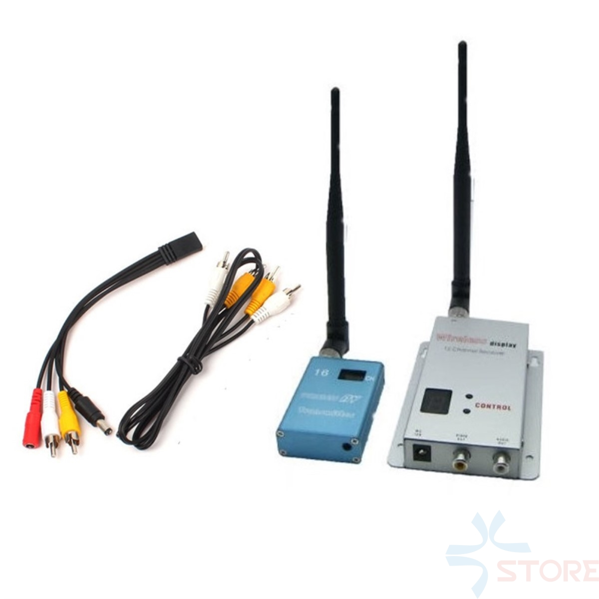 1.2GHz 700mW 15CH Wireless Room-to-Room Audio/Video Transmitter Receiver Set for FPV Photography 1 2g 100mw wireless audio video transceiver and receiver combo for fpv