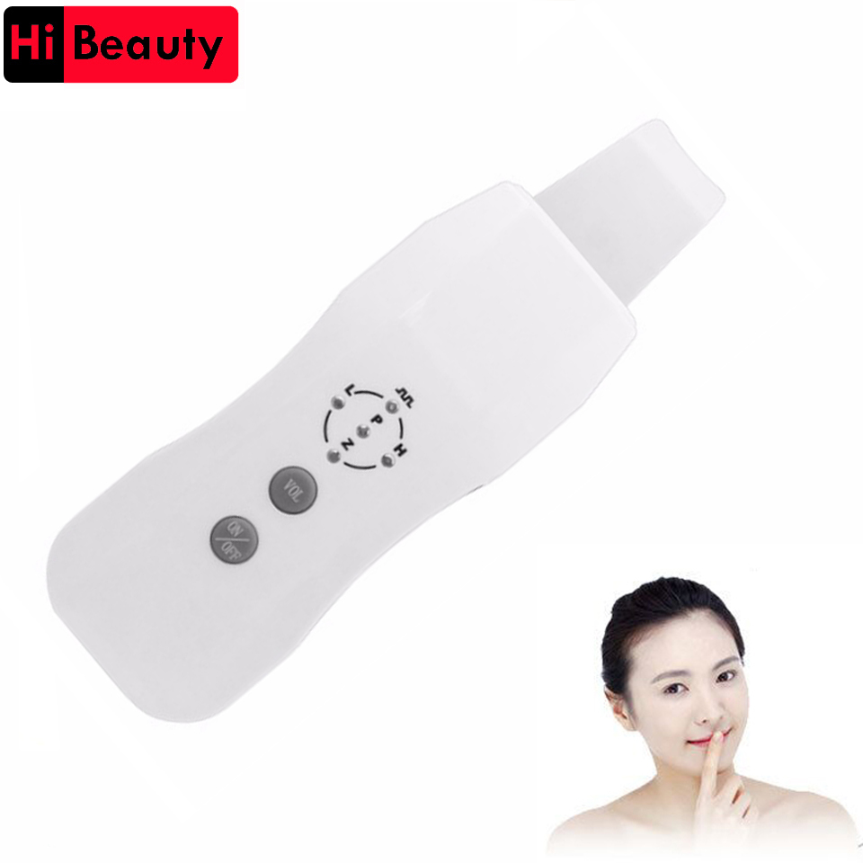 Rechargeable Anion Ultrasound Skin Cleaner Ultrasound Pore Cleaning Skin Scrubber Remmover Beauty Spa Care Acne Removal Tool eu portable ultrasonic facial cleaner face care tool lcd digital acne removal skin cleaning ultrasound peeling spa beauty lw006