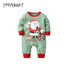 ZMHYAOKE 2018 Winter Baby Clothes Pyjamas Sets Merry Christmas Party Santa  Elk Pajama for The Boy 3c03a37e3