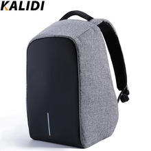 KALIDI Anti-theft 15.6 inch Laptop Backpack Men Women External USB Charge Notebook Backpack Schoolbag Mochila Masculine feminina(China (Mainland))