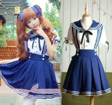 plus size Japanese sailor school uniform for girls lolita dress Navy sailor costumes for women anime maid cosplay costume