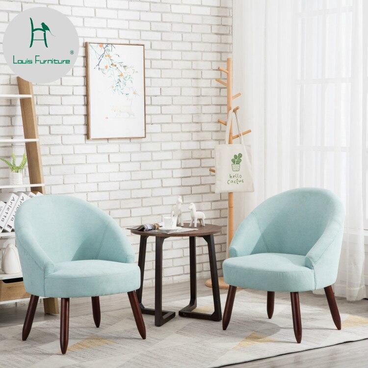 € 56.87 |Louis mode petit appartement simple tissu canapé salon balcon  paresseux personne visiteur Mini-in Chaises salle de séjour from Meubles on  ...