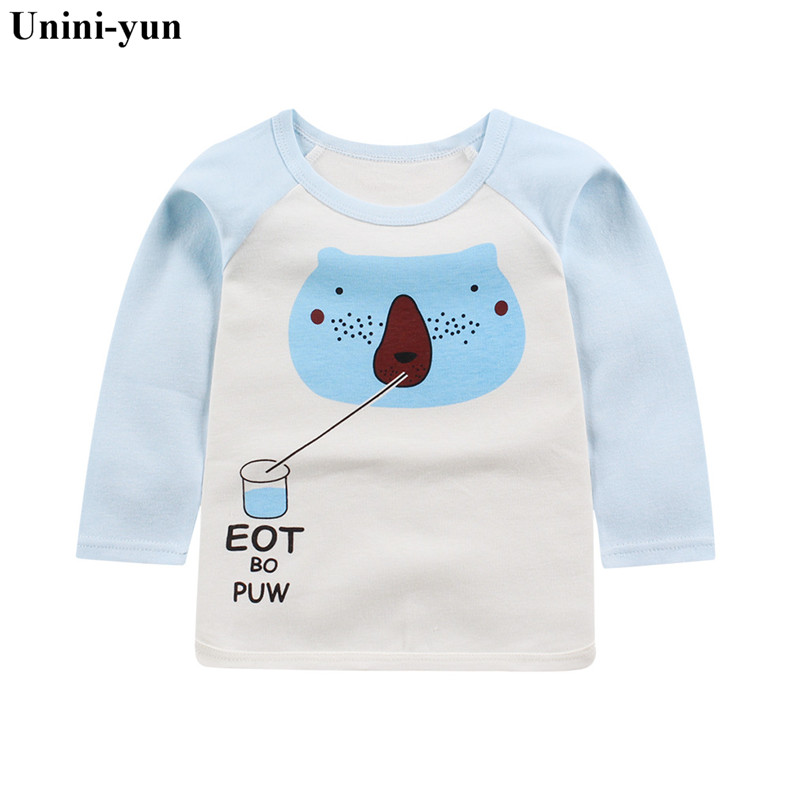 Boys T Shirt Baby Boy Clothes Kids Long Sleeve T-shirts Children Camiseta Roupas Infantis Menino New baby girl clothe