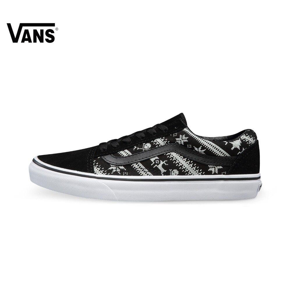 Original Vans White and Black Unisex Skateboarding Shoes Sports Shoes  Sneakers original vans white color women skateboarding shoes sneakers beach shoes canvas shoes outdoor sports comfortable breathable
