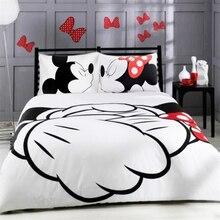 Лидер продаж! Микки Мыши мультфильм Постельное бельё любимый детский домашний текстиль плотная печатных стильный постельное белье один двойной Queen Размеры