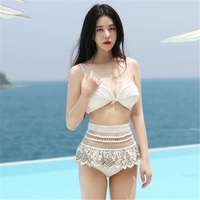 Princess High Waist Swimwear Bikini Padded Swimsuit High Quality Original Women S Bathing Suit Embroidery Maillot