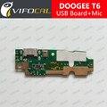 Doogee t6 placa usb + microfone 100% original novo carregamento de substituição assembléia reparação parte acessório para homtom ht6 pro