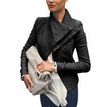Hot New 2016 Spring Winter Fashion Womens Faux Leather Jackets veste en cuir femme Ladies Motorcycle Biker Jacket Coat Black Z1