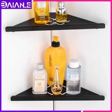 Bathroom Shelf Organizer Corner Brushed Black Stainless Steel Bathroom Shelves Wall Mounted Shower Caddy Shampoo Storage Rack dk 10 silicone reborn baby doll kit accessories diy vinyl baby doll mold lifelike handmade doll kit for kids diy sleeping doll