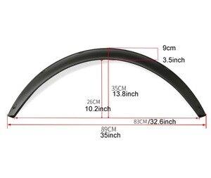 """Image 2 - Универсальный гибкий автомобильный брызговик 3,5 """"/90 мм, 4 шт., дополнительные широкие колесные арки"""