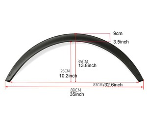 """Image 2 - 4Pcs 3.5""""/90mm Universal Flexible Car Fender Flares Extra Wide Body Wheel Arches"""