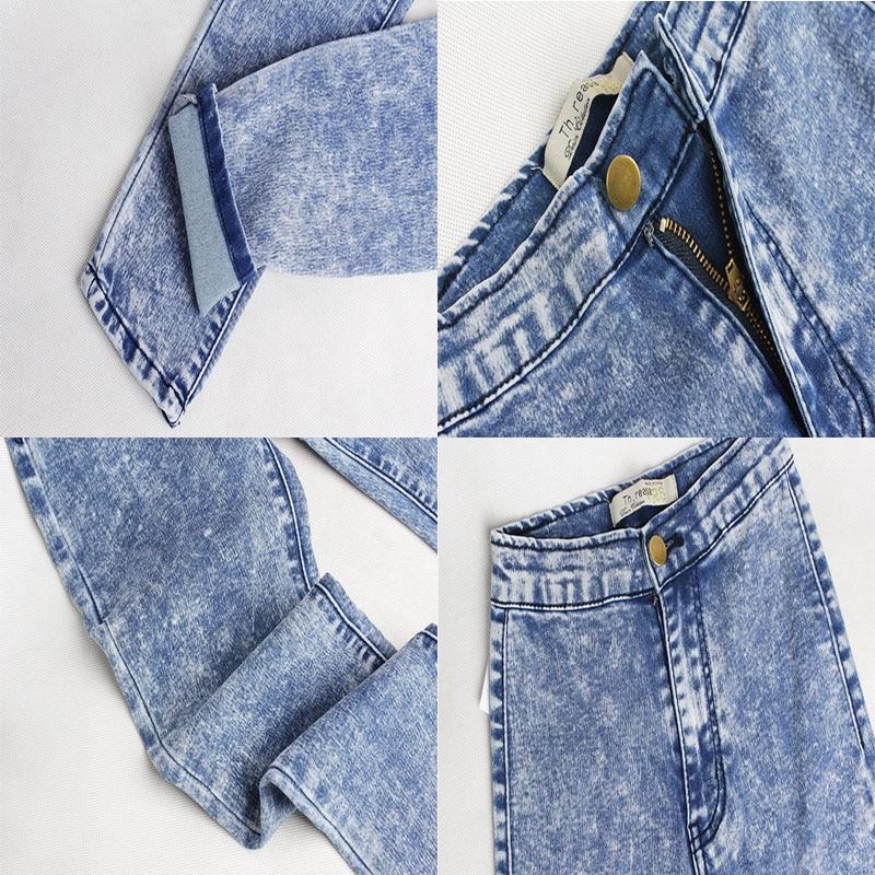 Alta Mujeres Pantalones Cintura Sl021 Tiempo Elásticos Steet Las Lavado Mediados Vaqueros Futuro Lápiz Longitud Femeninos Azul Copo Para De Flacos Completa twZ4qav