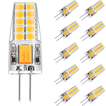 10pcs G4 LED Bulb 12V AC DC 3W LED G4 Lamp Lampadas Bombillas 20LED 2835 SMD 360 Degree 4000K 6000K Replace 30W Halogen Lamp