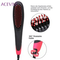ACEVIVI Innovative Smoothing Brush Ion Hair Straightener Brush Fast Heating Function Beautiful Smoothing Curlers Styling Tools