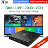X96 Iptv Box 2G16G S905X Sky IT UK DE Android Europe Arab IPTV Box For Spain