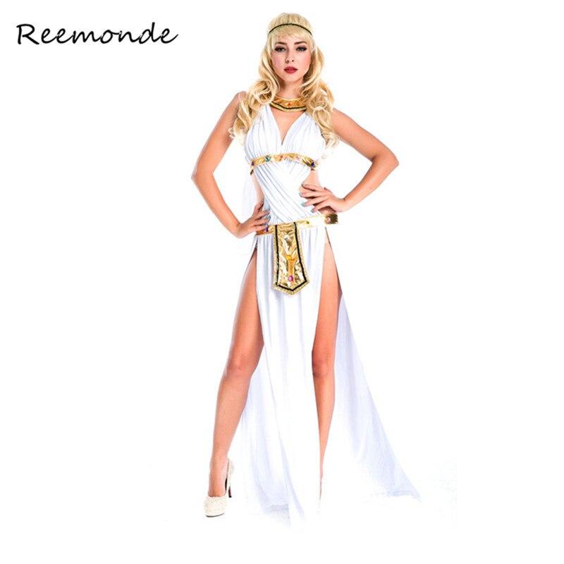 Xmas Halloween Women Roman Greek Egyptian Goddess Dress Costume Fancy Dress