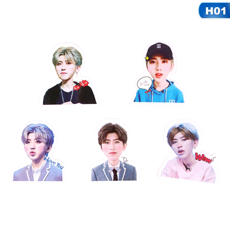 Jewelry Findings & Components Humorous Kpop Exo Sehun Chanyeol Cute Pvc Sticker For Laptop Cup Notebook Scrapbook Diy Stickers Waterproof Moderate Price