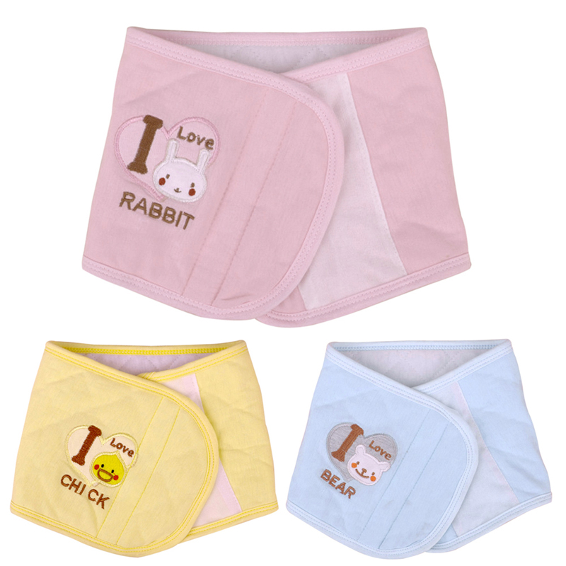 Adjustable Baby Infant Bellyband 2 Layers Soft Cotton Baby Navel Belly Button Protector Band Pink/Blue/Yellow Baby Navel Care