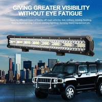 23inch LED Light Bar Flood Driving Lamp Offroad for Off road Vehicles 4WD 4x4 Truck JEEP SUV Mining Boating Marine Deck Light